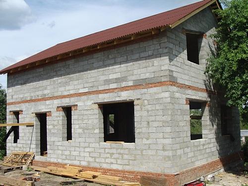 Дом своими руками из полистиролбетонных блоков